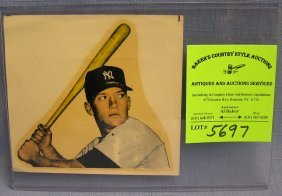 Vintage Mickey Mantle Decal Mint Never Used