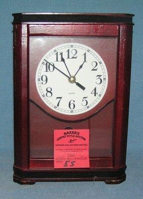 Mahogany Quartz Clock