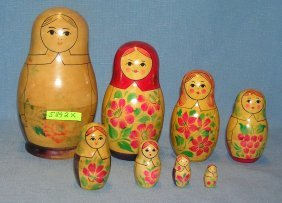 8 Piece Hand Made Nesting Doll Set