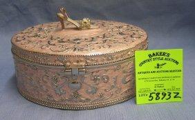 Fancy High Heeled Shoe Decorated, Mirrored Jewelry Box