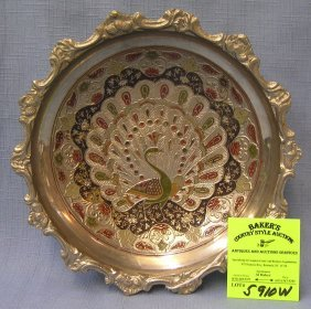 Middle Eastern Style Pheasant Decorated Bowl