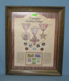 Vintage Wartime Coin And Stamp Collection