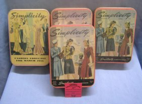 Box Full Of Vintage Fashion Related Collectible Tins