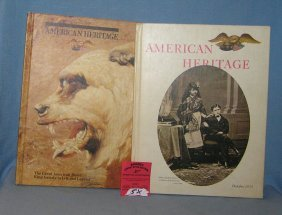 Pair Of American Heritage Amer. History Books
