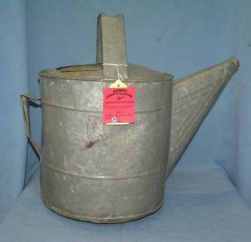 Antique All Metal Farm House Watering Can