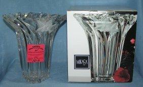 Mikasa Crystal Vase With Original Box