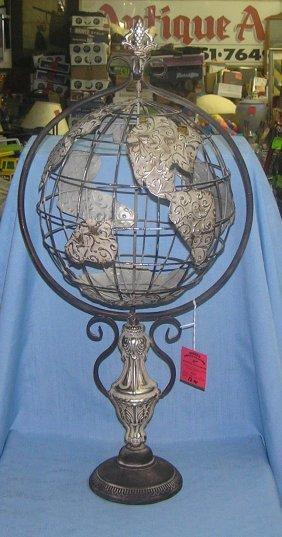 Revolving World Globe On Base