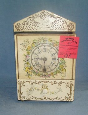 Vintage Clock Themed Jewelry Storage Chest