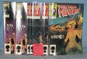 Group Of Vintage Marvel New Mutant Comic Books