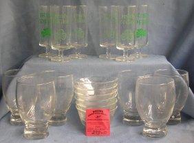 Box Full Of Vintage Estate Glassware
