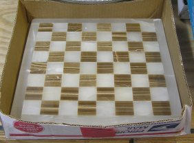 Vintage Imported Marble Chess Board