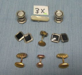 Group Of Antique Cuff Links