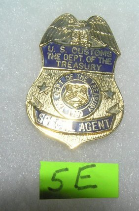 Us Customs Special Agent Officer's Badge