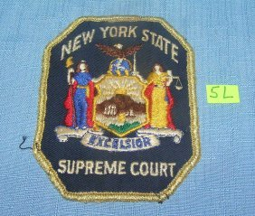 Early Ny State Supreme Ct. Hand Stitched Patch