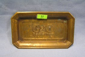 Antique Solid Brass G & O Radiator Co. Tray