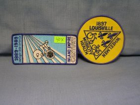 Pair Of Vintage Bicycle Patches