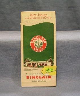 Vintage Sinclair Gas Advertising Road Map