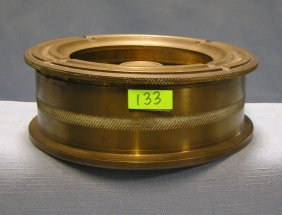 Large Heavy Solid Brass Trench Art Ash Tray