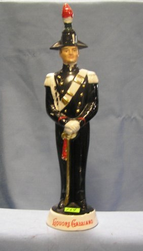 Porcelain Italian Soldier Liquor Decanter