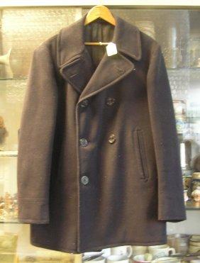 Vintage Wwii Navy Pea Coat