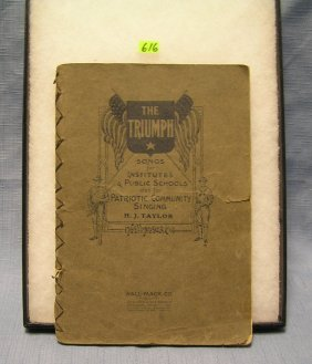 Vintage Song Book From Wwi The Triumph