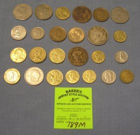 Collection Of Vintage World Coins