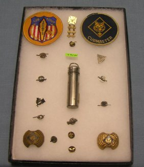 Group Of Vintage Scouting Collectibles