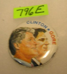 Clinton/gore Pictorial Campaign Button