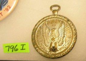 Amer. Eagle Themed Pocket Watch Shaped Fob