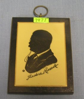 Theodore Roosevelt Silhouette Wall Plaque