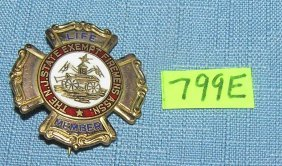 Fireman's Life Membership Badge