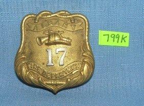 Antique Albany Ny Fireman's Badge