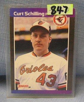 Vintage Curt Schilling Rookie Baseball Card