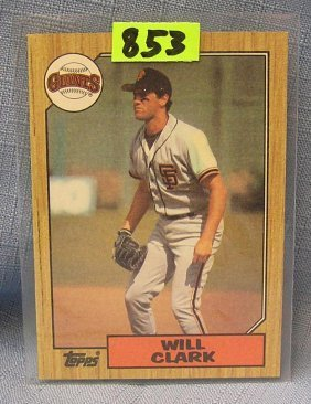 Vintage Will Clark Rookie Baseball Card