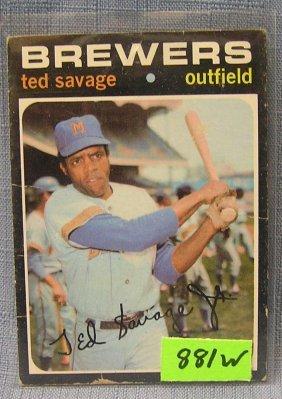 Vintage Ted Savage Rookie Baseball Card