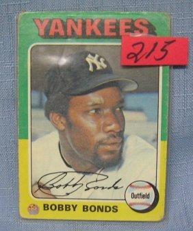 Vintage Bobby Bonds Baseball Card