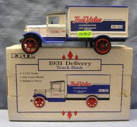 True Value Advertising Delivery Truck Bank