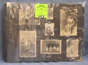 Large Antique Photo Album Scrap Book