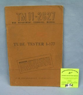 Vintage Wwii Tube Tester Book