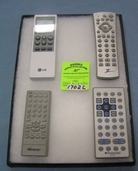 Group Of Appliance Remote Controls