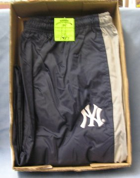 Part Of New York Yankees Adias Warm Up Pants Size Extra