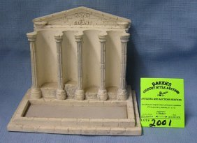 Composition Monument Shaped Coin Holder