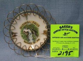 Vintage Bushkill Falls Collector's Plate