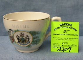 English Maid Souvenir Cup From Maine