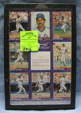 Vintage Ny Mets Uncut Baseball Card Sheet