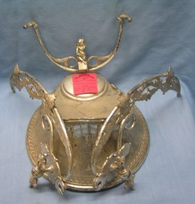 Antique Silver Plated Presentation Award Trophy