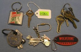 Group Of 6 Advertising And Automotive Keys