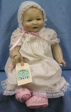 Large Antique Composition Baby Doll