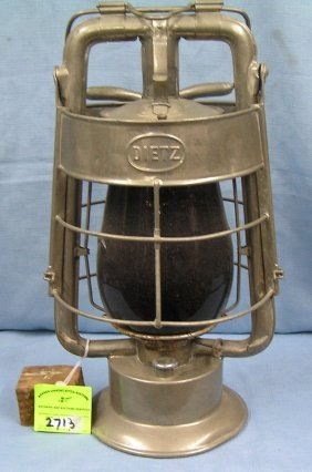 Early American La France Style Fire Lantern By Dietz