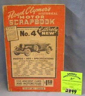 Vintage Floyd Clymers Historical Motor Scrap Book
